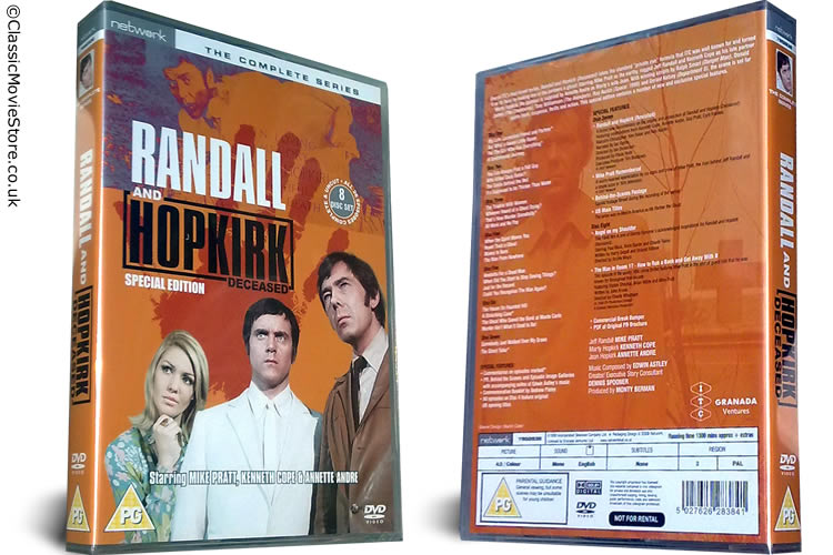 Randall and Hopkirk Deceased DVD - Click Image to Close