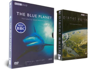 Planet Earth DVD and Blue Planet DVD sets