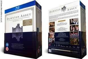 Downton Abbey Blu Ray Series 1-4 dvd collection